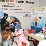 Merlin Group organizes vaccination camp for on site construction workers and staff at the Acropolis Mall